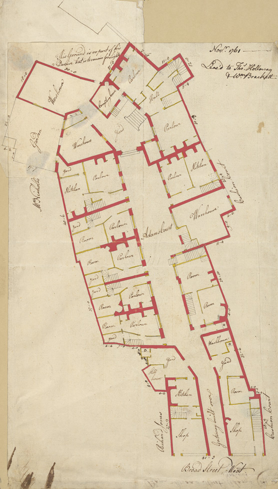 [A Plan of Adams Court on the west side of Broad Street]